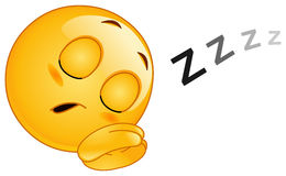Sleeping emoticon Stock Photography