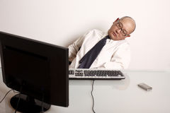 Sleeping employee Stock Photography