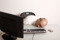 Sleeping employee Stock Photos