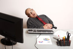 Sleeping employee Stock Photo