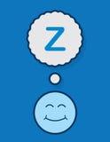 Sleeping Face Z Stock Photo