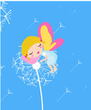 Sleeping fairy. Illustration of cute sleeping fairy Royalty Free Stock Photos