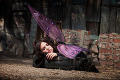Sleeping Fairy Royalty Free Stock Images
