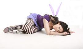 Sleeping fairy. Fairy sleeping on the floor Stock Photos