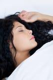 Sleeping female royalty free stock photos