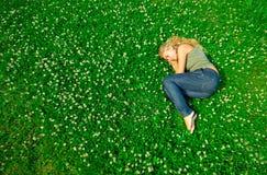 Sleeping in the field Stock Photos
