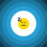 Sleeping Flat Icon. Asleep Vector Element Can Be Used For Sleeping, Asleep, Face Design Concept. Asleep Vector Element Can Be Used For Sleeping, Asleep, Face Stock Photos
