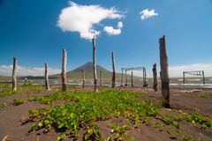 Sleeping force. Photo of the volcano Momotombo. View from the lake of Managua Royalty Free Stock Photos