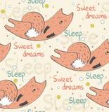 Sleeping fox. Stock Photo