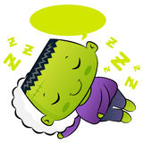 The sleeping Frankenstein characters. Stock Photos