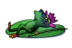 Sleeping frog Stock Photography