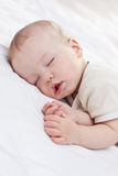 Sleeping  funny baby boy Royalty Free Stock Photo