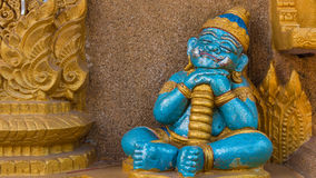 Sleeping giant baby statue in Thai temple Stock Image