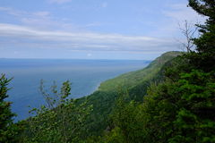 Sleeping Giant Provincial Park. Looking out over Lake Superior from a high point in Sleeping Giant Provincial Park, located near Thunder Bay, Ontario, Canada Royalty Free Stock Photo