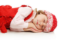 The sleeping girl stock image