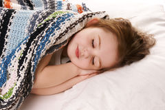 Sleeping girl Stock Image