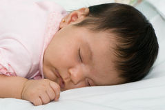 Sleeping girl 2 months Stock Photo