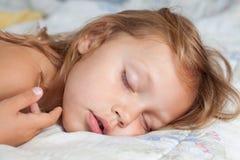 Sleeping girl. Portrait of a little girl sleeping Royalty Free Stock Images