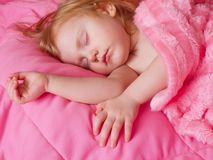 Sleeping girl Royalty Free Stock Images