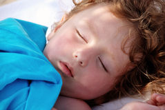 Sleeping girl. Close up of cute sleeping girl Royalty Free Stock Photos