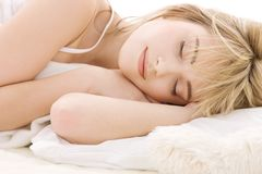 Sleeping girl Royalty Free Stock Photos