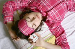 The sleeping girl. Stock Images