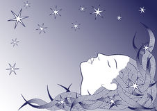 Sleeping girl Royalty Free Stock Image