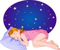 Sleeping_girl Image stock