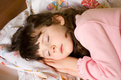 Sleeping girl Royalty Free Stock Photo