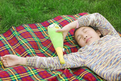 A sleeping girl Stock Photography
