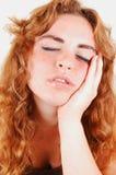 Sleeping girl. Stock Images
