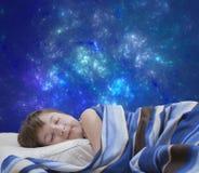 Sleeping girl on abstract background Stock Image