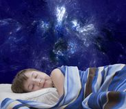 Sleeping girl on abstract background Royalty Free Stock Photos