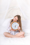 Sleeping girl at 5:30 am Stock Photography