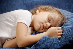 Sleeping girl closeup Royalty Free Stock Photo