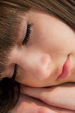 Sleeping girl face Royalty Free Stock Photos