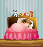 A sleeping girl Stock Photos