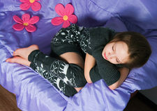 The sleeping girl Stock Photography