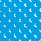 Sleeping girl pattern vector seamless blue. Repeat for any use royalty free illustration