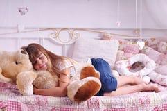 Sleeping girl portrait Stock Photo