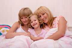 Sleeping girls Stock Photography