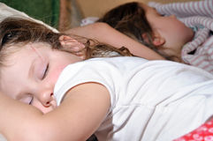 Sleeping girls Royalty Free Stock Photography