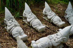 Sleeping gnome sculptures Royalty Free Stock Image