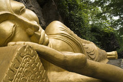 Sleeping Golden Buddha Royalty Free Stock Photography