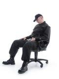 Sleeping guard royalty free stock photo