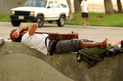 Sleeping Guitar Stock Photography