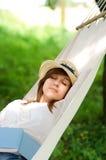 Sleeping on hammock Royalty Free Stock Image