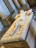 Sleeping Hermaphroditus. Sculpture by Borghese. Paris stock photography