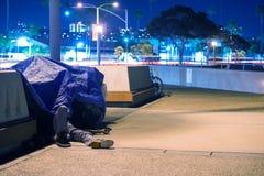 Sleeping Homeless Men. In California, United States Stock Images