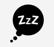 Sleeping icon illustrated. On a white background Royalty Free Stock Photo